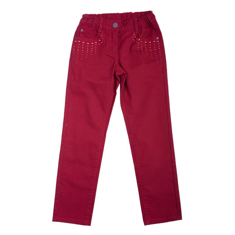 Брюки для девочек. 362010362010Яркие твиловые брюки для девочки. Украшены металлизированными разнокалиберными стразами. Классическая пятикарманка, есть шлевки для ремня.