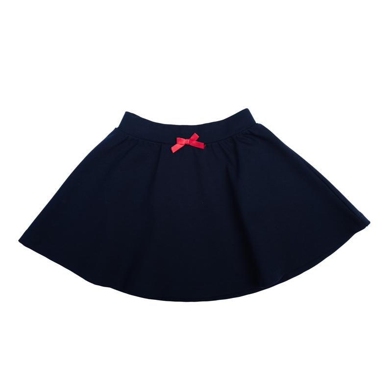 Юбка для девочек. 362014362014Юбка, которая должна быть в гардеробе любой девочки. Мягкая и уютная, пояс на резинке. Классический крой и выдержанный цвет позволяет сочетать с абсолютно любой одеждой. Украшена маленьким атласным бантиком.