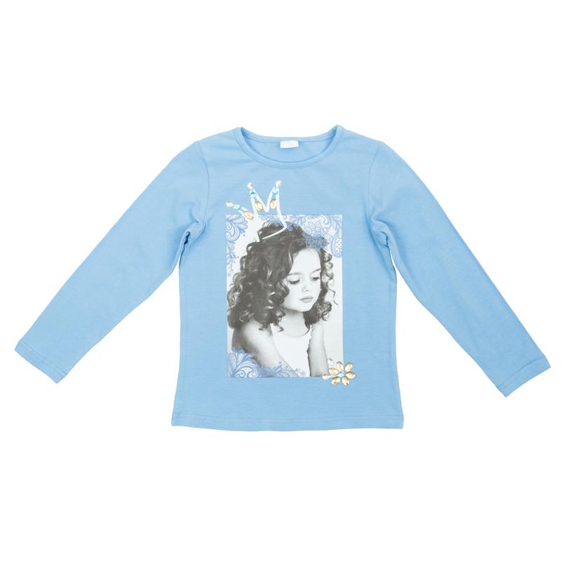 футболка для девочек. 362164362164Комплект из двух футболок - с короткими и длинными рукавами. Можно носить отдельно, а можно создать стильный образ, надев их вместе.