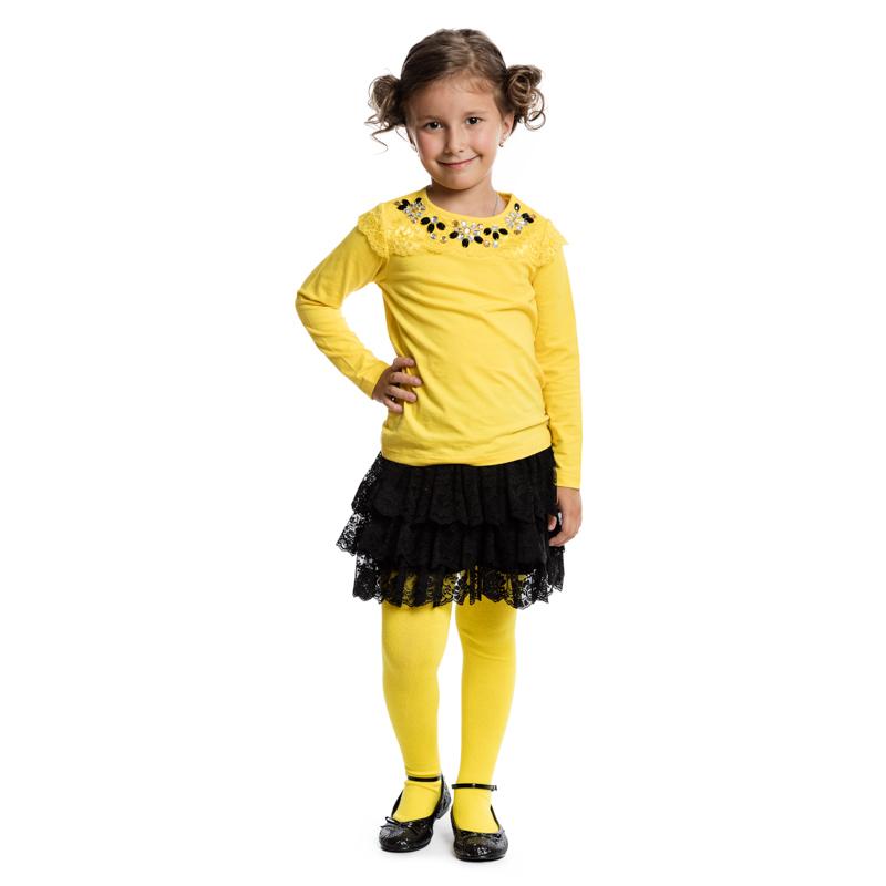 Колготки для девочек. 362194362194Уютные хлопковые колготки лимонного цвета. Верх на мягкой резинке.