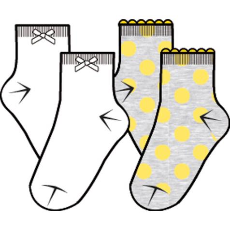 Носки362197Комплект из двух пар уютных хлопковых носочков на каждый день. Верх на мягкой резинке.