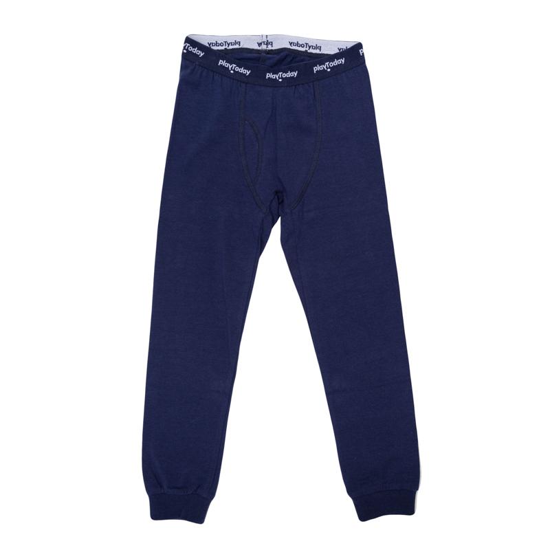 Кальсоны для мальчиков. 365008365008Мягкие хлопковые кальсоны темно-синего цвета. Пояс на трикотажной принтованной резинке.