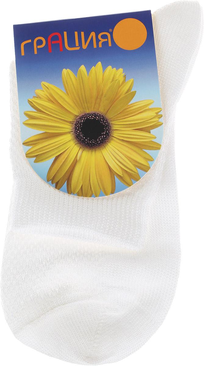 Носки женские. М 1301М 1301Легкие женские носки Грация, изготовленные из высококачественного комбинированного материала, очень мягкие и приятные на ощупь, позволяют коже дышать. Эластичная резинка плотно облегает ногу, не сдавливая ее, обеспечивая комфорт и удобство. Носки связанные вязкой сетка имеют паголенок стандартной длины. Удобные и комфортные носки великолепно подойдут к любой вашей обуви.