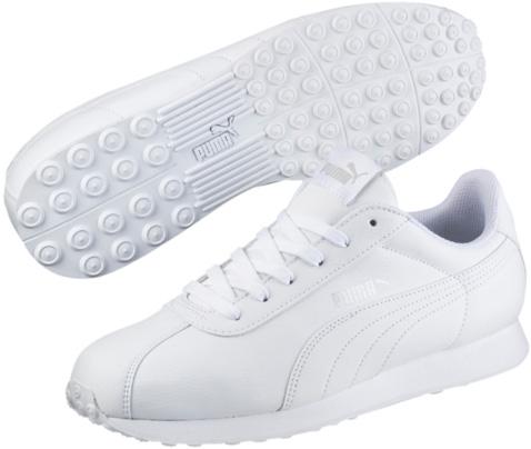 Кроссовки женские. 3601160536011605Модель PUMA Turin напоминает обувь футболистов. Благодаря мягкой искусственной коже верха и амортизирующей промежуточной подошве из этиленвинилацетата эта модель дарит комфорт, сохраняя все признаки классической спортивной обуви, и при этом прекрасно подходит для повседневной носки.