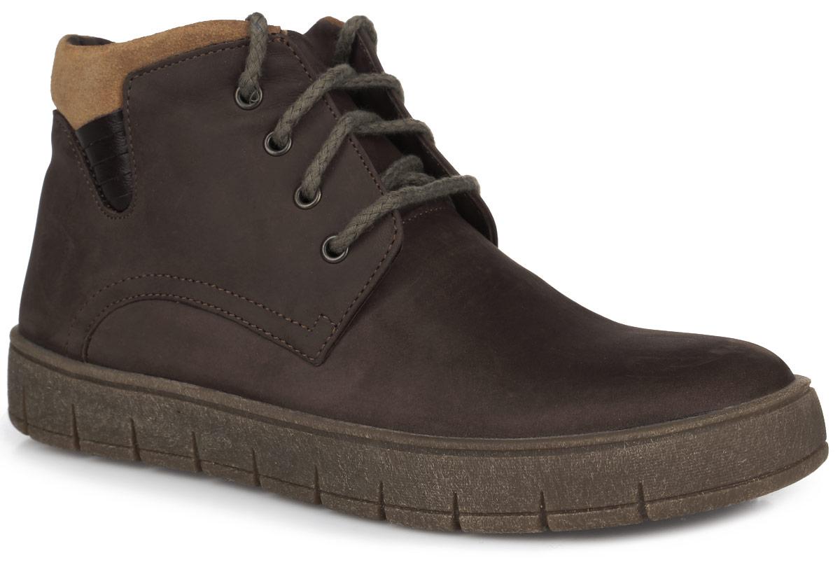 Ботинки для мальчика. 11391-311391-3Стильные зимние ботинки Зебра заинтересуют вашего юного модника с первого взгляда! Модель полностью выполнена из натурального нубука . Ботинки фиксируются на ноге с помощью удобной застежки-молнии и шнурков. Мягкий манжет, который снаружи выполнен из замши, создает комфорт при ходьбе и предотвращает натирание ноги. Внутренняя поверхность и стелька выполнены из натурального меха, благодаря которому тепло сохраняется лучше. Подошва изготовлена из ТЭП-материала, а её рифленая поверхность обеспечит отличное сцепление с любой поверхностью. Такие модные и практичные ботинки займут достойное место в гардеробе вашего мальчика.