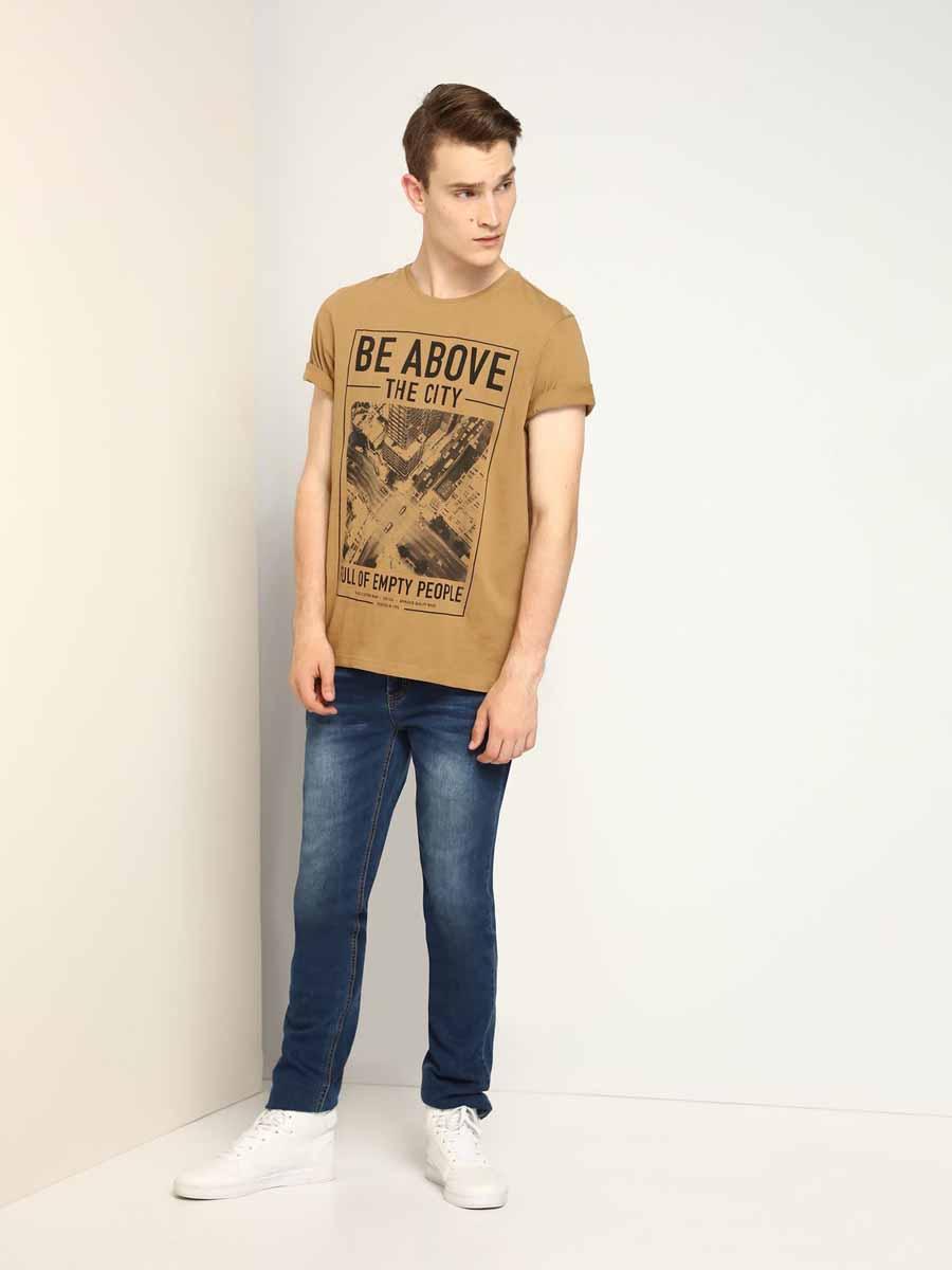 ФутболкаSPO2816BEМужская футболка, выполненная из 100% хлопка, оформлена оригинальным принтом с надписью. Модель со стандартным коротким рукавом и круглым вырезом горловины.