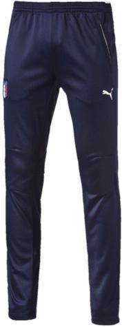 Брюки спортивные7489800_41Тренировочные брюки декорированы официальной эмблемой Федерации футбола Италии из ткани, фирменной символикой Puma и изображением итальянского флага, нанесенным методом термопечати на изнанку пояса. Брюки изготовлены из высокофункционального материала dryCELL, который отводит влагу, поддерживает тело сухим и гарантирует максимальный комфорт.