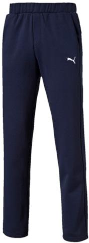 Брюки спортивные мужские. 8382630683826306Модель декорирована вышитым логотипом Puma. Среди других отличительных особенностей изделия - пояс из его основного материала с продернутым затягивающимся шнуром, карманы в швах, а также нашитая сверху задняя кокетка для лучшей посадки по фигуре.