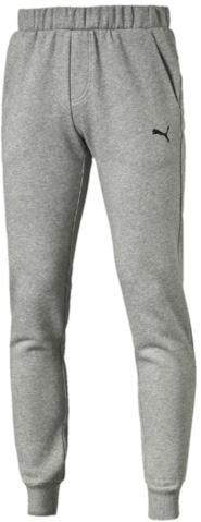 Брюки спортивные838266_01Спортивные брюки Puma ESS Sweat Pants Slim, Fl выполнены из мягкого трикотажа, флисовая внутренняя отделка. Модель декорирована вышитым логотипом Puma. Среди других отличительных особенностей изделия - пояс из его основного материала с продернутым затягивающимся шнуром, карманы в швах, нашитая сверху задняя кокетка для лучшей посадки в обтяжку по фигуре, а также отделка манжет по низу штанин трикотажем в резинку.