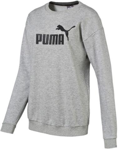 Свитшот838405_04Свитшот от Puma ESS No.1 Crew Sweat Tr W прямого кроя выполнена из меланжевого трикотажа с мягким внутренним слоем. Модель декорирована прорезиненным логотипом Puma. Среди других отличительных особенностей изделия - отделка сзади по вороту тесьмой с фирменной символикой, спущенное плечо, отделка воротника, манжет и пояса трикотажем в рубчик. Модель имеет фасон мужской рубашки со свободным воротом и длинными рукавами.