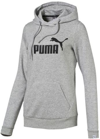 Толстовка838406_04Толстовка Puma ESS No.1 Hoody Fl W выполнена из приятного на ощупь материала. Модель прямого кроя с мягкой внутренней отделкой из пушистого ворса. Модель декорирована прорезиненным логотипом Puma. Среди других отличительных особенностей изделия - отделка сзади по вороту тесьмой с фирменной символикой, боковые швы с нахлестом вперед и отделка манжет и пояса трикотажем в резинку. Модель имеет стандартную посадку.