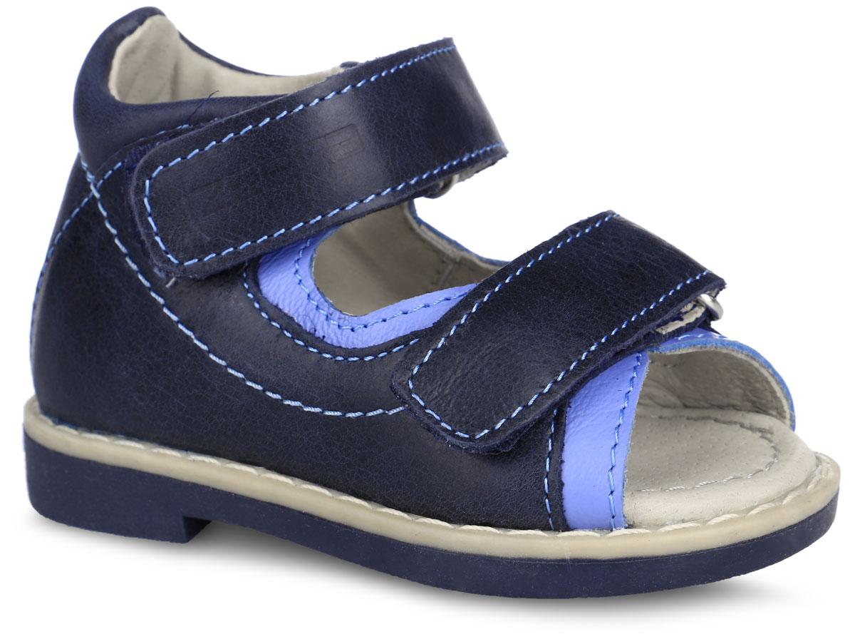Сандалии для мальчика. 10689-510689-5Прелестные сандалии от Зебра придутся по душе вашему сынишке и идеально подойдут для повседневной носки в летнюю погоду! Модель, выполненная из натуральной кожи, оформлена прострочкой. Ремешки с застежками-липучками обеспечивают надежную фиксацию модели на ноге. Внутренняя поверхность и стелька из натуральной кожи комфортны при ходьбе. Стелька оснащена супинатором с перфорацией, который обеспечивает правильное положение стопы ребенка при ходьбе и предотвращает плоскостопие. Подошва с рифлением гарантирует отличное сцепление с любой поверхностью. Ортопедический каблук Томаса укрепляет подошву под средней частью стопы и препятствует ее заваливанию внутрь. Стильные сандалии - незаменимая вещь в гардеробе каждого ребенка!
