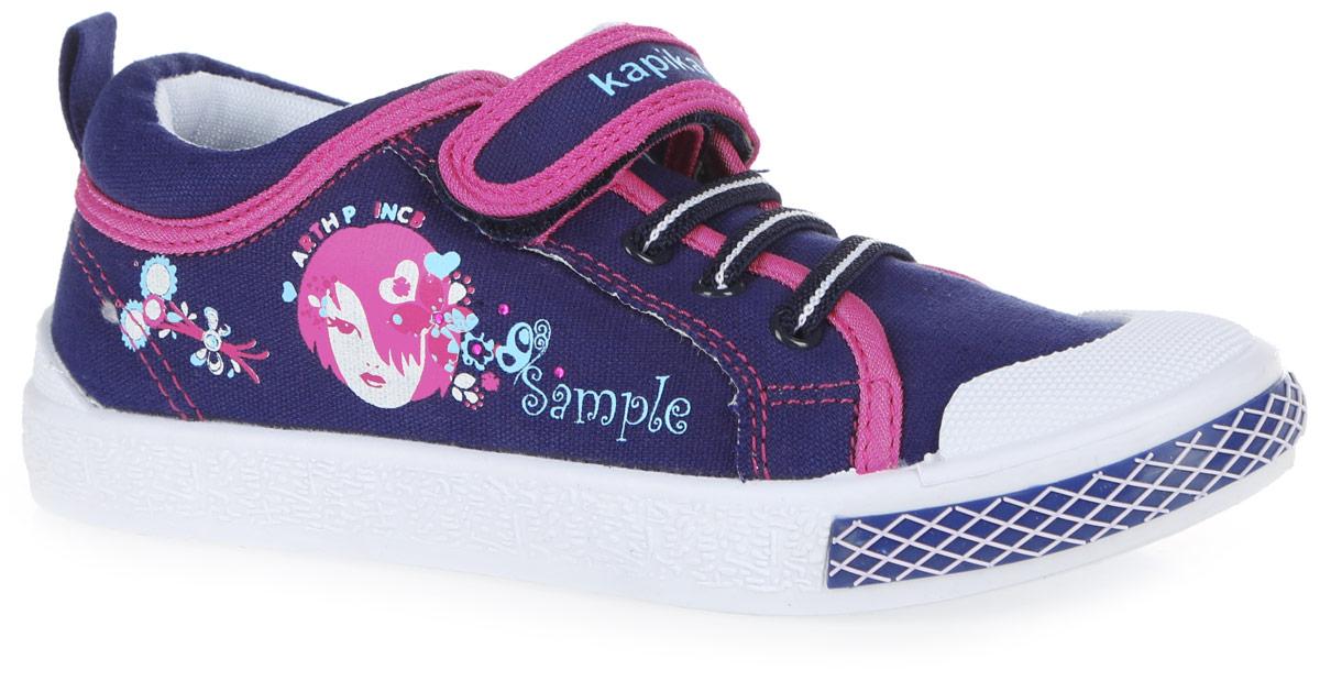 73263-1Прелестные кеды от Kapika заинтересуют вашу девочку с первого взгляда. Модель, выполненная из текстиля, оформлена сбоку ярким принтом и стразами. Эластичная шнуровка и ремешок с застежкой-липучкой, оформленный названием бренда, обеспечивают надежную фиксацию модели на ноге. Мыс модели защищен прорезиненной вставкой. Внутренняя поверхность из текстиля не натирает. Анатомическая стелька из материала ЭВА с поверхностью из натуральной кожи оснащена супинатором с перфорацией, который обеспечивает правильное положение стопы ребенка при ходьбе и предотвращает плоскостопие. Стелька эффективно поглощает влагу и неприятные запахи, обеспечивает воздухопроницаемость и отличную амортизацию. Подошва с рифлением обеспечивает сцепление с любой поверхностью. Модные кеды - незаменимая вещь в гардеробе каждой девочки!