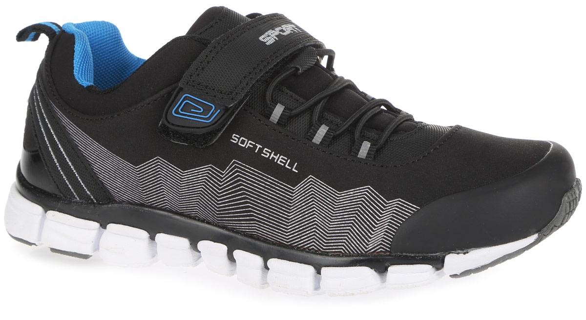 Кроссовки для мальчика. 73233с-173233с-1Стильные кроссовки от Kapika заинтересуют вашего мальчика с первого взгляда. Модель, выполненная из текстиля и искусственной кожи, оформлена по бокам оригинальным принтом. Технология верха Soft Shell обеспечивает воздухопроницаемость и предотвращает проникновение влаги. Мыс защищен вставкой из ПВХ. Эластичная шнуровка и ремешок с застежкой-липучкой, оформленный нашивкой из ПВХ и надписью Sport, надежно зафиксируют изделие на ноге. Внутренняя поверхность, выполненная из текстиля, гарантирует комфорт и предотвращает натирание. Анатомическая стелька из ЭВА материала с поверхностью из натуральной кожи гарантирует оптимальный микроклимат внутри обуви. Стелька оснащена супинатором с перфорацией, который обеспечивает правильное положение стопы ребенка при ходьбе и предотвращает плоскостопие. Светоотражающие вставки увеличивают безопасность вашего ребенка в темное время суток. Легкая подошва с рифлением обеспечивает отличное сцепление с любой поверхностью. Модные...