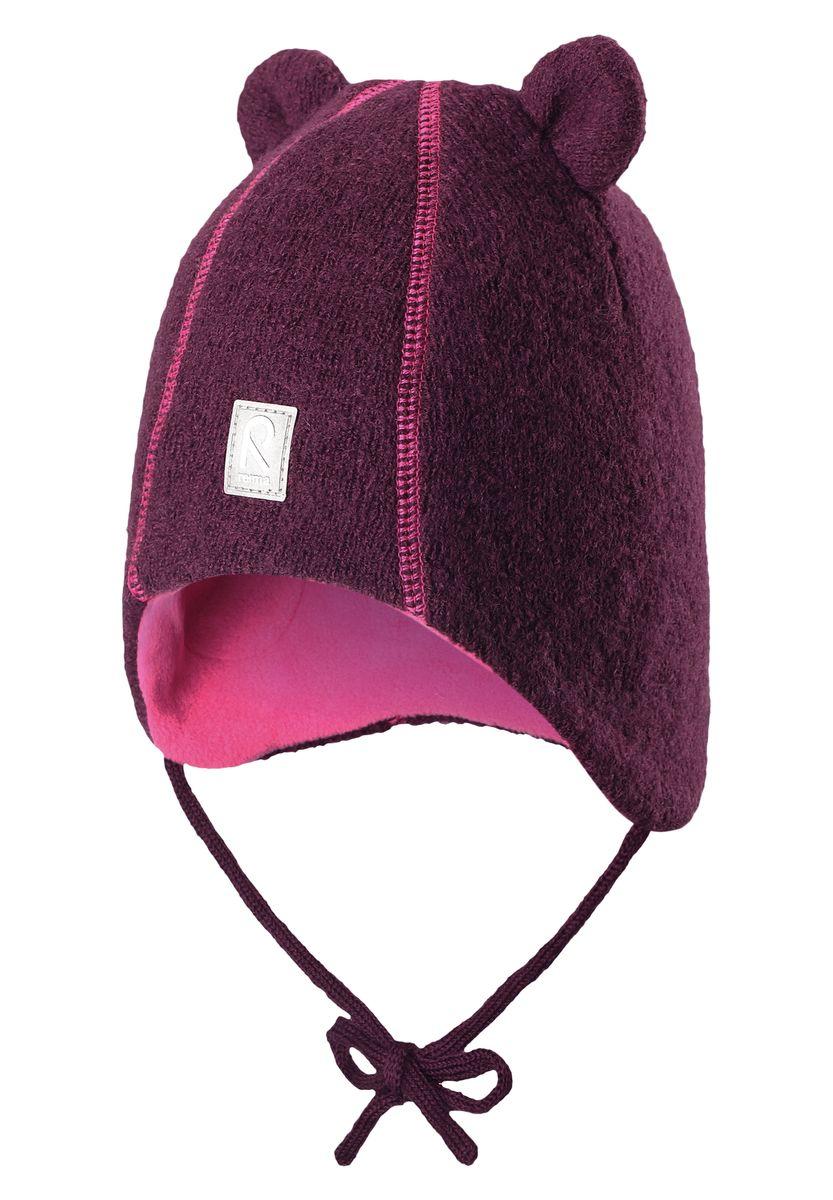 518357-4900Стильная и очень теплая шерстяная шапка для малышей на мягкой и удобной флисовой подкладке. Благодаря очень мягкому полярному флису голова малыша будет в тепле и не вспотеет, сколько ни бегай. Ветронепроницаемые вставки в области ушей защищают ушки от холодного ветра, а благодаря завязкам, шапка точно не собьётся во время веселых прогулок. Забавные «ушки» и декоративная строчка придают этой супер теплой модели завершающий штрих!