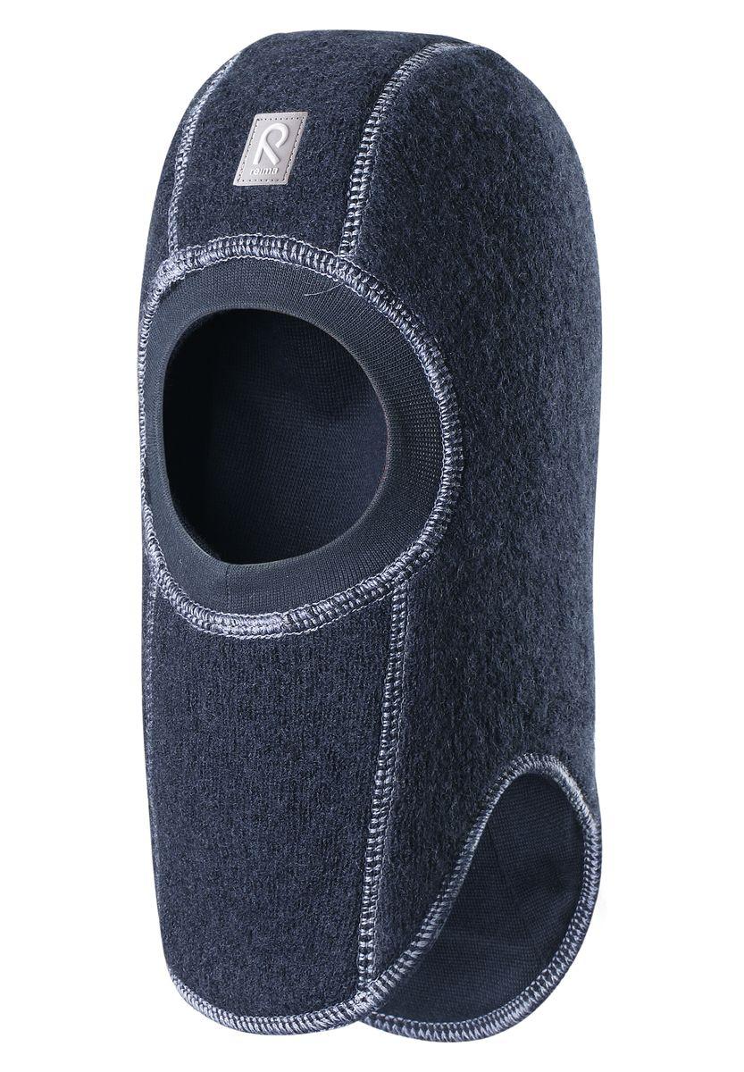518358-4900Стильная и очень теплая шерстяная шапка-шлем для малышей на мягкой и плотной подкладке из смеси хлопка и эластана. Шерстяная поверхность с начесом ярко смотрится, а эластичный трикотаж облегчает надевание. Ветронепроницаемые вставки в области ушей защищают ушки от холодного ветра, а вязаная резинка вокруг лица плотно прилегает к коже и обеспечивает максимальный комфорт маленьким любителям прогулок на свежем воздухе.