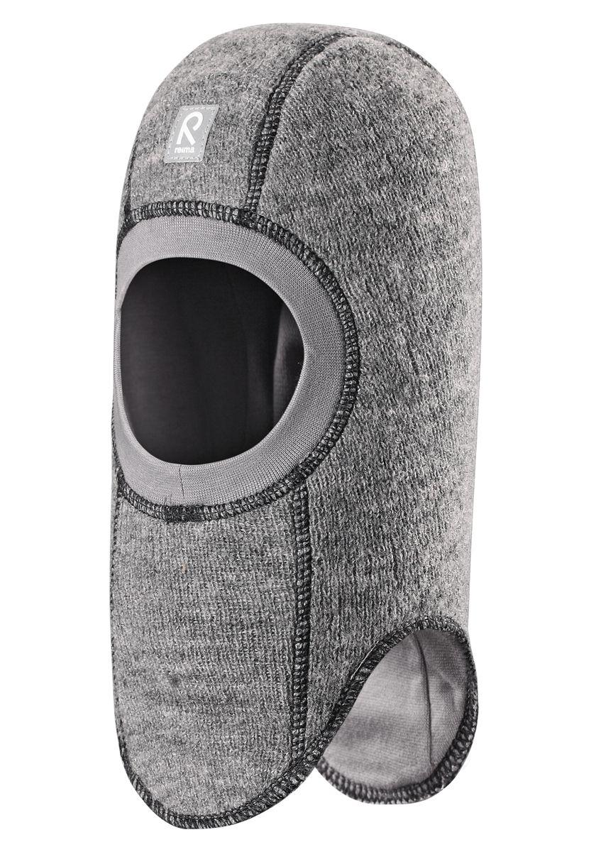 Балаклава детская518358-4900Стильная и очень теплая шерстяная шапка-шлем для малышей на мягкой и плотной подкладке из смеси хлопка и эластана. Шерстяная поверхность с начесом ярко смотрится, а эластичный трикотаж облегчает надевание. Ветронепроницаемые вставки в области ушей защищают ушки от холодного ветра, а вязаная резинка вокруг лица плотно прилегает к коже и обеспечивает максимальный комфорт маленьким любителям прогулок на свежем воздухе.