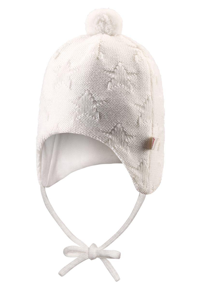 Шапка детская518376-0110Эта очень теплая шапочка из шерсти идеально подходит для холодных зимних дней. Ветронепроницаемые вставки в области ушей защищают от холодного ветра, а мягкая подкладка из флиса приятна чувствительной детской коже. Красивая вязка и помпон завершают зимний образ!