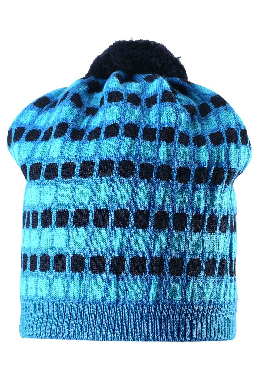 Шапка детская528489-6560В этой стильной шерстяной шапочке-бини искатели зимних приключений не замерзнут во время веселого отдыха! Связана из теплой шерсти, поэтому надежно сохраняет тепло, а мягкая хлопчатобумажная подкладка делает шапочку приятной к телу. Ветронепроницаемые вставки в области ушей обеспечат маленьким ушкам дополнительную защиту от холодного ветра. Стильный жаккардовый узор завершает модный образ!