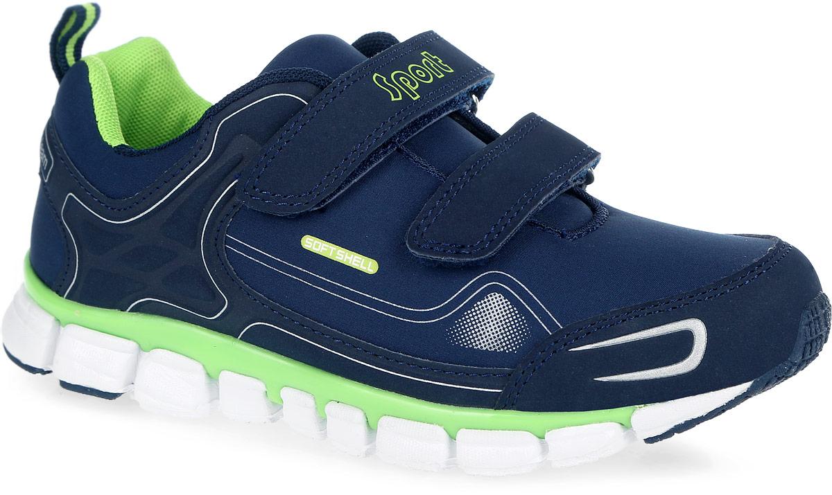 Кроссовки для мальчика. 7418774187Модные кроссовки от Kapika заинтересуют вашего мальчика с первого взгляда. Модель выполнена из качественного текстиля и элементами из искусственной кожи. Кроссовки выполнены в оригинальном дизайне. Модель оформлена оригинальным принтом и фирменными надписями. На ноге модель надежно фиксируется с помощью удобных ремешков с застежками-липучками. Ярлычок на заднике облегчает надевание обуви. Мягкий манжет и внутренняя поверхность из текстиля создают комфорт при ходьбе и предотвращают натирание ножки ребенка. Стелька дополнена небольшим супинатором, который обеспечивает правильное положение стопы ребенка при ходьбе и предотвращает плоскостопие. Легкая и гибкая подошва из ЭВА-материала обеспечивает отличную амортизацию и поглощение ударов. Вставки из ТЭП-материала гарантирует отличное сцепление с любой поверхностью. Такие стильные и практичные кроссовки займут достойное место в гардеробе вашего ребенка.