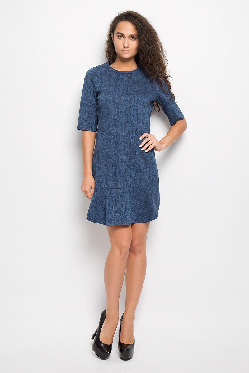 ПлатьеAY4995Платье Calvin Klein Jeans поможет создать стильный образ. Платье изготовлено из эластичного хлопка, тактильно приятное, хорошо пропускает воздух. Платье с круглым вырезом горловины и рукавами-реглан длиной 1/2 застегивается по спинке на молнию. Низ платья дополнен двумя воланами. Украшена модель небольшой металлической пластиной с названием бренда. Стильный дизайн и высокое качество исполнения принесут удовольствие от покупки. Модель подарит вам комфорт в течение всего дня!
