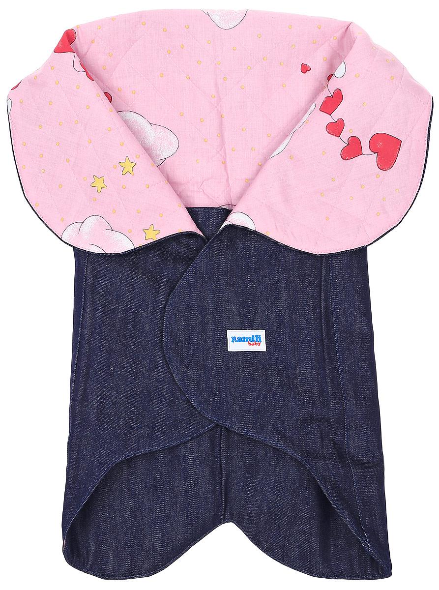 Конверт для новорожденногоKRDS02Конверт-лепесток для новорожденного Ramili Denim Style станет замечательным дополнением к детскому гардеробу. Снаружи конверта используется высококачественная джинсовая ткань, внутри - хлопок на мягком утеплителе. Материал тактильно приятный, не раздражает нежную кожу ребенка. На конверте предусмотрен карман для ножек малышки, который фиксируется на застежки-кнопки. Верхняя часть конверта с помощью кнопок образует капюшон. Изделие легко раскладывается, благодаря чему его можно использовать в качестве коврика для пеленания или игр. Застежки в виде липучек и кнопок позволяют быстро зафиксировать конверт и обеспечивают надежное облегание, которое не ограничивает движения ребенка и подарит ему чувство тепла, комфорта и защищенности. Модель оформлена с внутренней стороны принтом с изображением забавных медвежат, с внешней украшена фирменной нашивкой. Многофункциональный и удобный конверт идеально подойдет для первых месяцев жизни младенца. В таком современном...