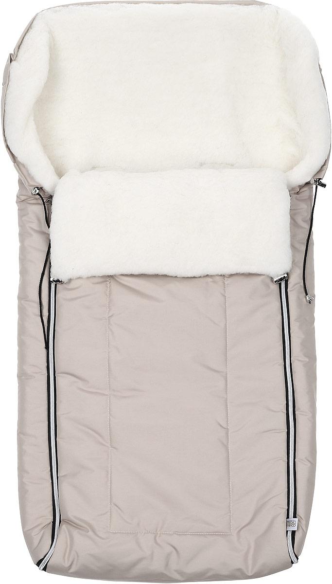 Конверт для новорожденного Норд. 983983/20Многофункциональный и теплый меховой конверт для новорожденного Сонный Гномик Норд отлично подойдет для долгих зимних прогулок. Конверт изготовлен из специальной синтетической ткани Dewspo (100% полиэстер), которая защищает от дождя и ветра. Меховая подкладка выполнена из шерсти с добавлением полиэстера. В качестве утеплителя используется шелтер (100% полиэстер). Шелтер (Shelter) - утеплитель, состоящий из микроволокон, удачно сочетает непревзойденное тепло натурального пуха и лучшие качества синтетических материалов. Его уникальность состоит в особенности структуры, повторяющей пух. Ультратонкие волокна делают утеплитель мягким, позволяющим ребенку активно двигаться. Утеплитель шелтер максимально защищает от холода, не стесняя движений, позволяя телу дышать. Конверт легко стирается в домашних условиях, быстро сохнет и сохраняет форму. Конструкция модели снабжена двумя удобными застежками-молниями. Она раскладывается на два отдельных меховых коврика....