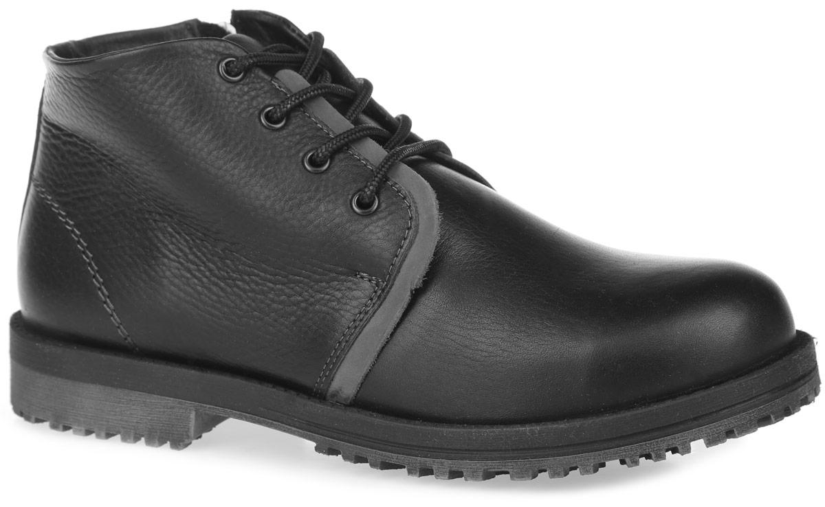 Ботинки для мальчика. 10055-110055-1Модные ботинки от Зебра очаруют вашего юного модника с первого взгляда. Ботинки полностью изготовлены из натуральной кожи зернистой текстуры. Модель выполнена в оригинальном дизайне и оформлена декоративной прострочкой. На ноге модель фиксируется с помощью удобной боковой молнии и шнурков. Подкладка и стелька, выполненные из натурального меха, сохранят ноги в тепле. Подошва, изготовленная из прочного и легкого ТЭП-материала, дополнена небольшим каблуком. Рифленая поверхность подошвы гарантирует отличное сцепление. В таких ботинках ножкам всегда будет тепло и комфортно!