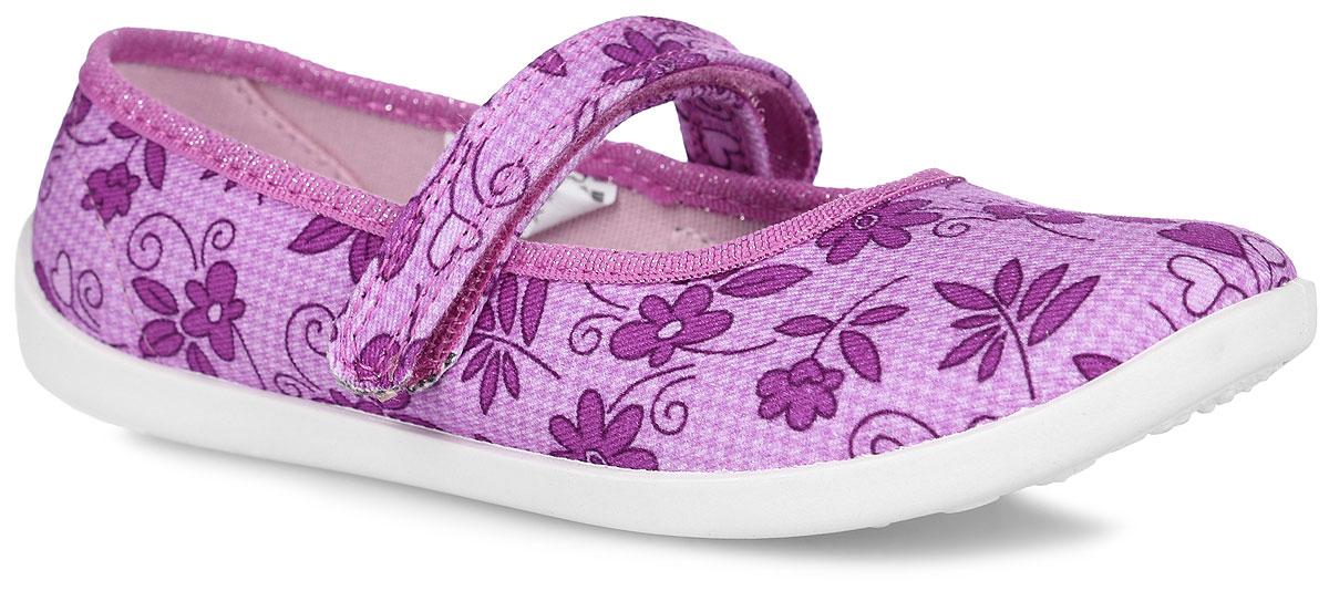 Kapika Туфли для девочки. 22320_цветочный22320Прелестные туфли от Kapika заинтересуют вашу юную модницу с первого взгляда. Туфли выполнены из качественного текстиля и оформлены оригинальным цветочным принтом. На ноге модель фиксируется с помощью удобного ремешка с застежкой-липучкой. Подкладка выполнена из текстиля. Стелька, выполненная из мягкой искусственной кожи с добавлением ЭВА-материала, дополнена небольшим супинатором, который обеспечивает правильное положение стопы ребенка при ходьбе и предотвращает плоскостопие. Подошва выполнена из легкого и гибкого полимерного материала, а ее рифление гарантирует отличное сцепление с любой поверхностью. Такие туфли займут достойное место в гардеробе вашей девочки.