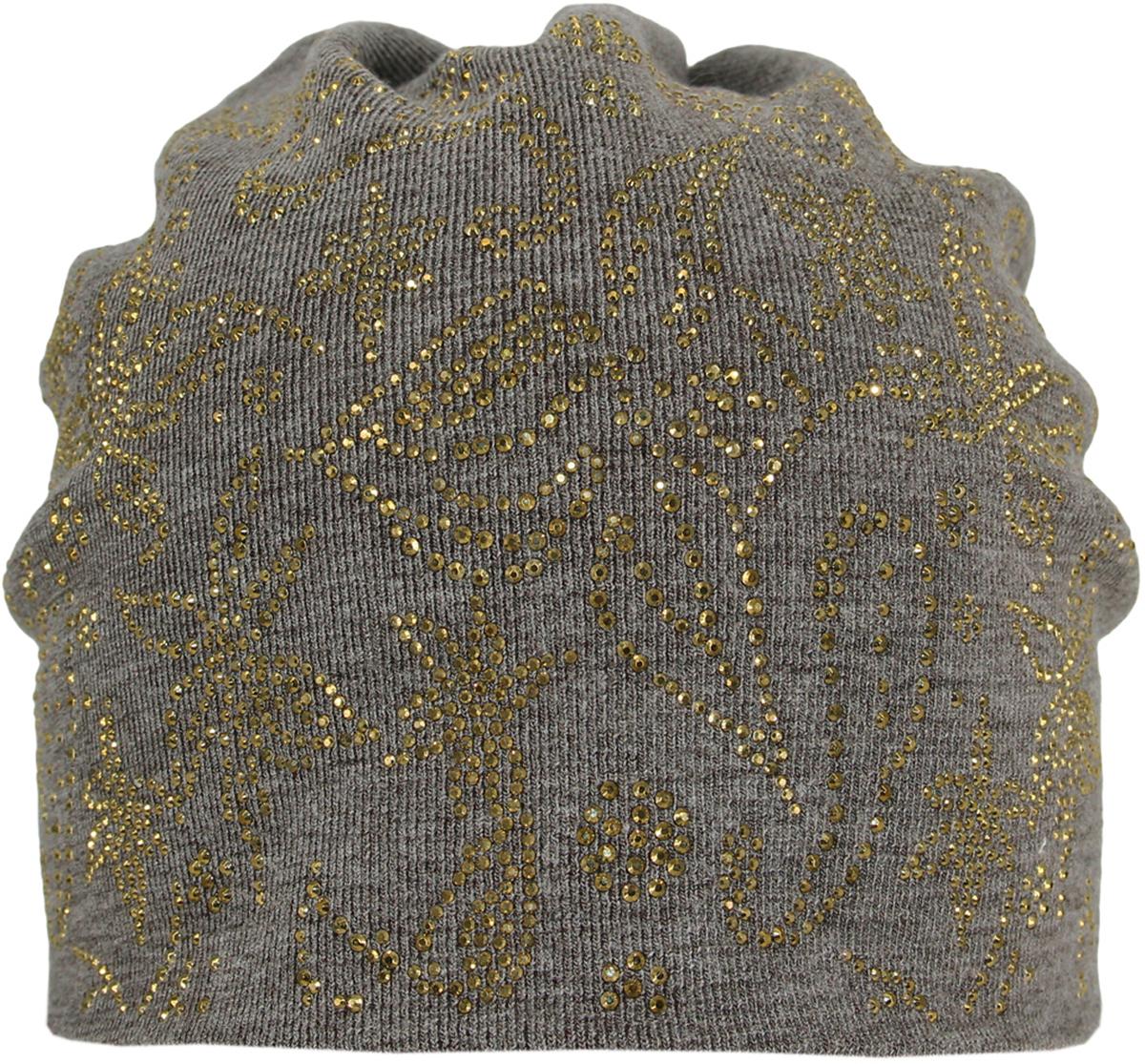 Шапка383624Стильная женская шапка Level Pro дополнит ваш наряд и не позволит вам замерзнуть в холодное время года. Шапка выполнена из шерсти и полиэстера, что позволяет ей великолепно сохранять тепло, и обеспечивает высокую эластичность и удобство посадки. Изделие оформлено оригинальным принтом выложенным из страз. Такая шапка составит идеальный комплект с модной верхней одеждой, в ней вам будет уютно и тепло.