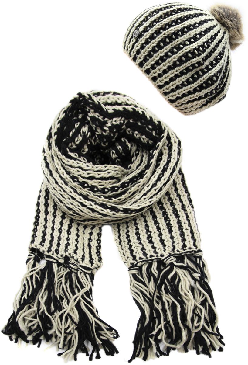 Комплект аксессуаров женский. 991473991473Яркий, модный комплект согреет в любой мороз.,детали и оттенок изделия могут отличаться от представленных на фото