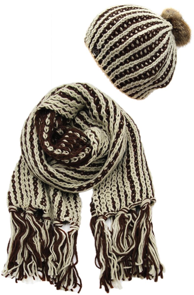 Комплект аксессуаров женский. 991474991474Яркий, модный комплект согреет в любой мороз.,детали и оттенок изделия могут отличаться от представленных на фото