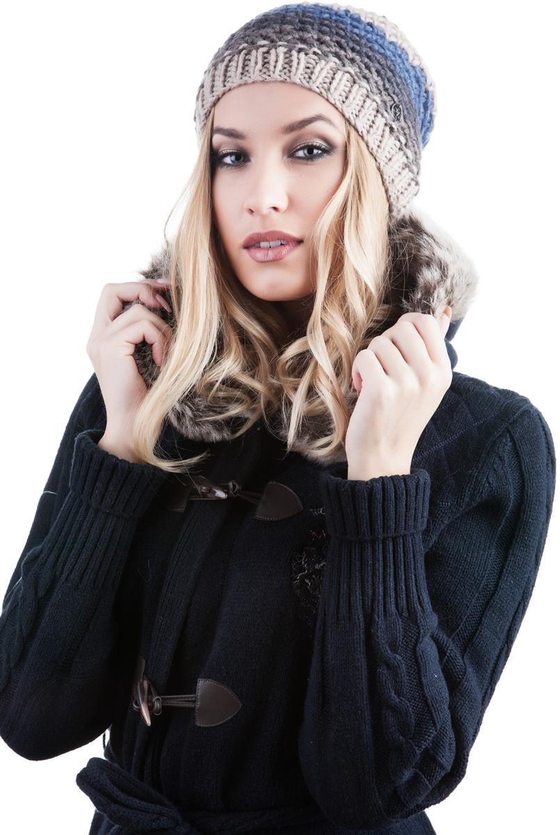 991464Женская шапка Avanta изготовлена из комбинации шерсти и полиамида, подкладка - из флиса. Уважаемые клиенты! Размер, доступный для заказа, является обхватом головы.