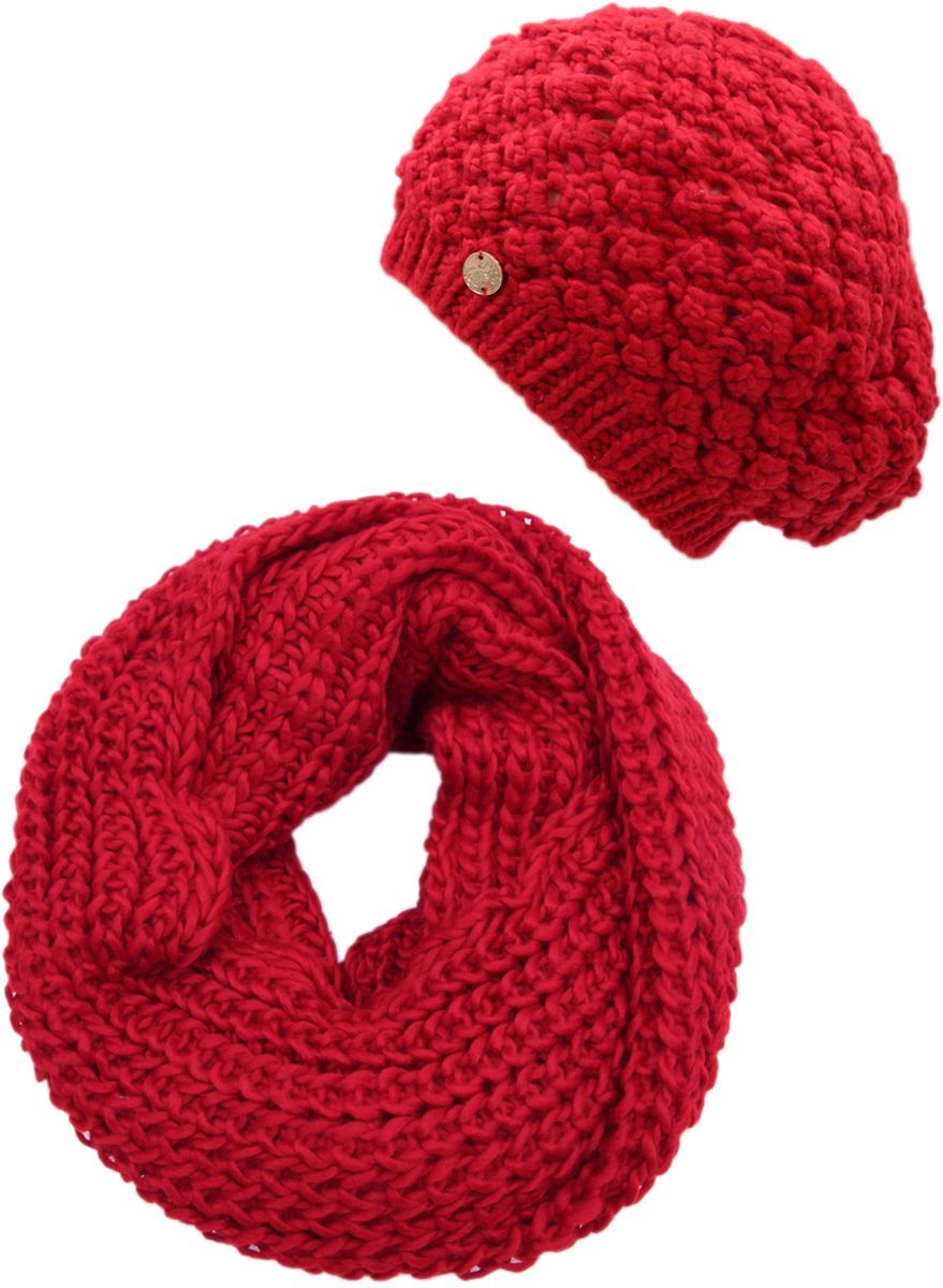 Комплект аксессуаров женский. 992154992154Яркий, модный комплект согреет в любой мороз.,детали и оттенок изделия могут отличаться от представленных на фото