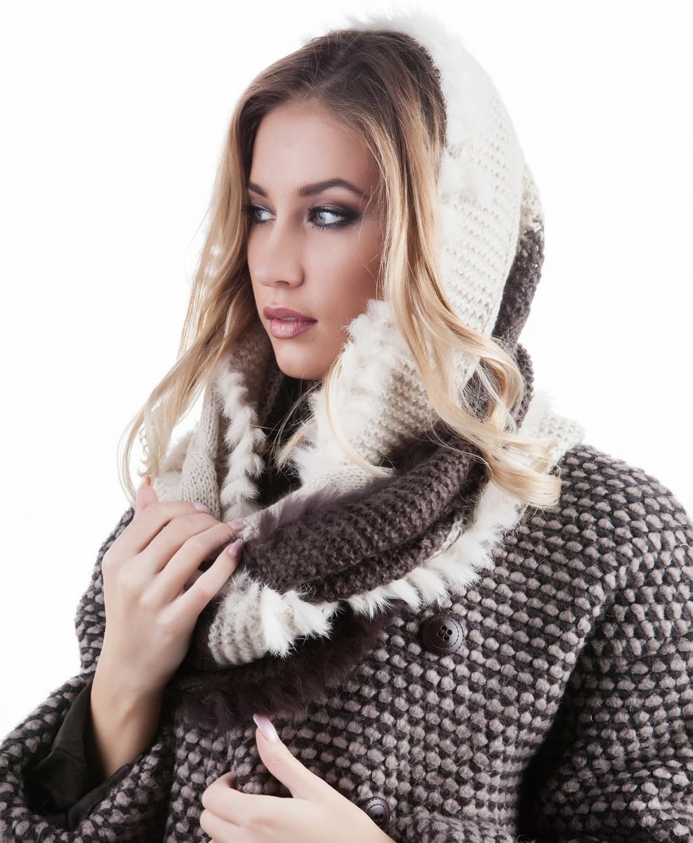Снуд-Хомут женский. 991475991475Яркий, модный снуд согреет в любой мороз.,детали и оттенок изделия могут отличаться от представленных на фото