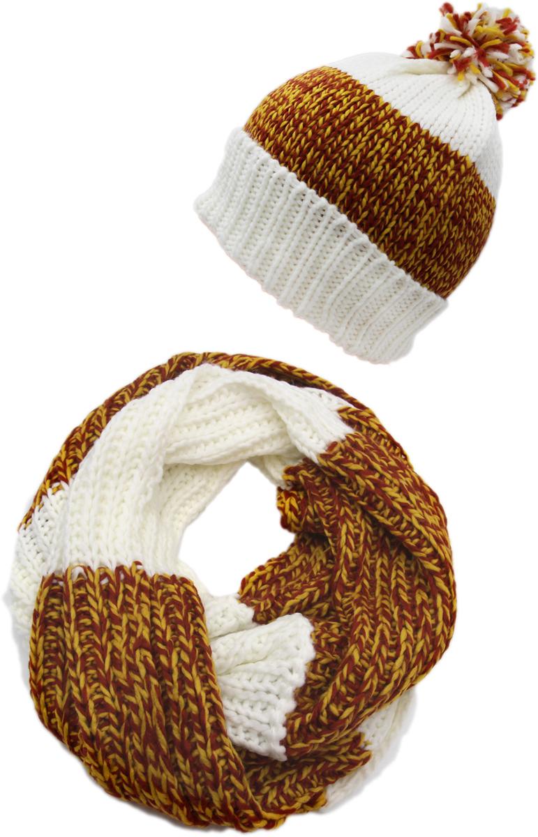 Комплект аксессуаров женский. 992169992169Яркий, модный комплект согреет в любой мороз.,детали и оттенок изделия могут отличаться от представленных на фото