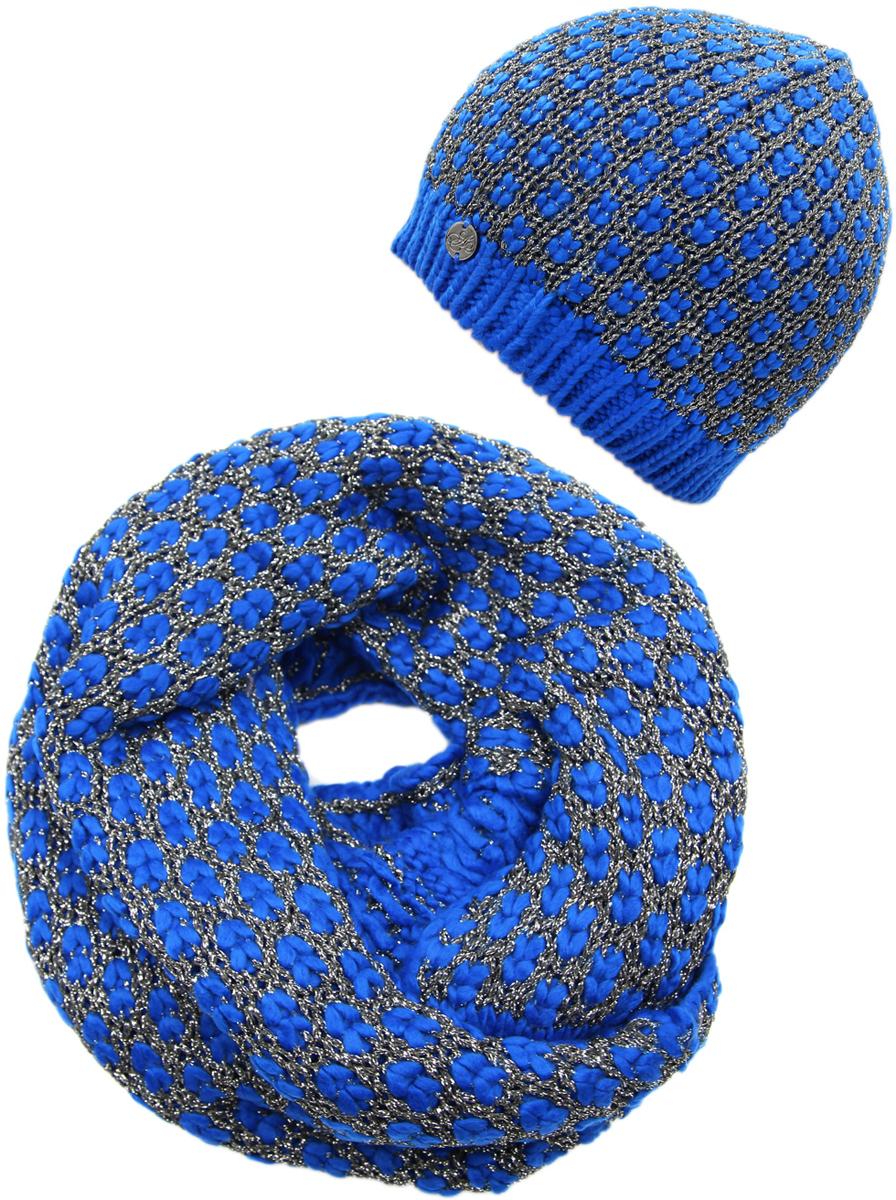 Комплект аксессуаров женский. 991497991497Яркий, модный комплект согреет в любой мороз.,детали и оттенок изделия могут отличаться от представленных на фото