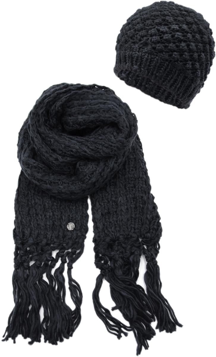 Комплект аксессуаров женский. 992180992180Теплая женская шапка ,детали и оттенок изделия могут отличаться от представленных на фото