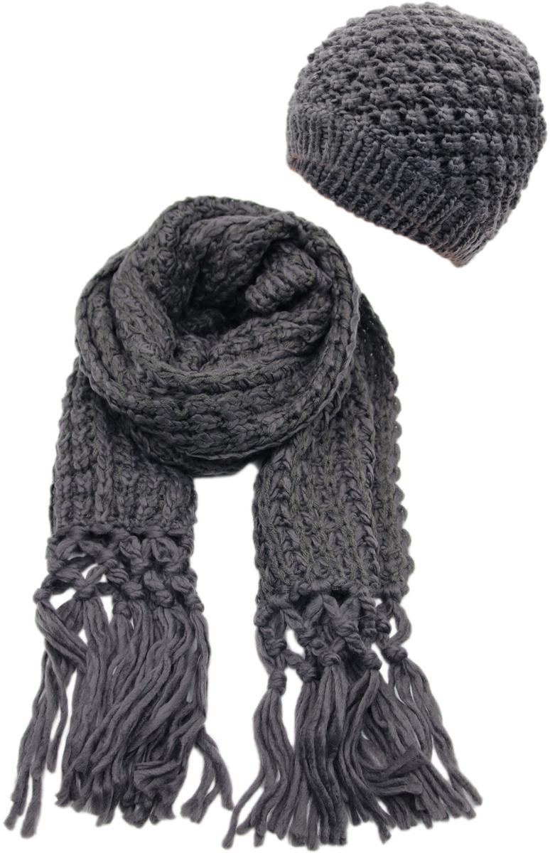 Комплект аксессуаров женский. 992181992181Теплая женская шапка ,детали и оттенок изделия могут отличаться от представленных на фото