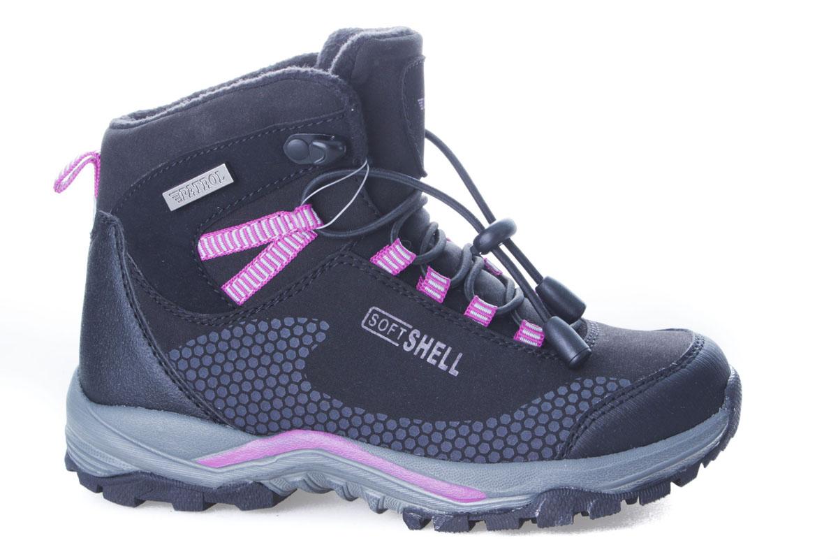 962-003PF-17w-8/01-1Комфортные ботинки для девочки от Patrol выполнены из искусственной кожи и текстиля. Подкладка и стелька, выполненные из флиса, обеспечивают отличную амортизацию и максимальный комфорт. Подошва с протектором гарантирует идеальное сцепление на любой поверхности. Ботинки на подъеме дополнены эластичной шнуровкой со стоппером.