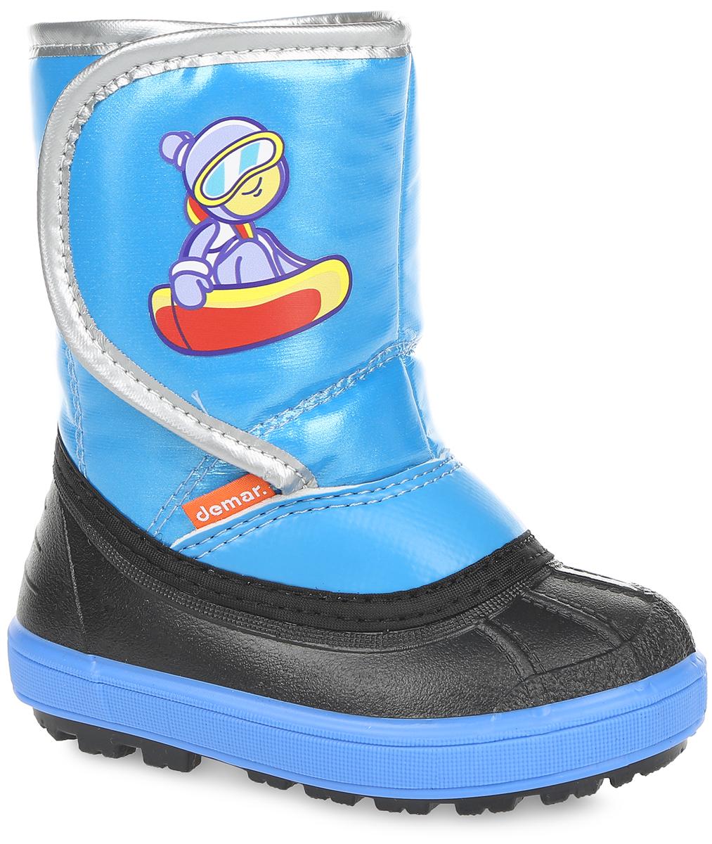 1505Стильные дутики Snowboarder от Demar придутся по вкусу вашему ребенку. Модель выполнена из текстиля и ПВХ. Модель регулируется по обхвату голенища при помощи хлястика на липучке, оформленного оригинальной наклейкой. Главным преимуществом является наличие съемного носка из натуральной шерсти, который можно вынуть и легко просушить. Подошва с рельефным протектором обеспечит отличное сцепление с любыми поверхностями. Удобные дутики - необходимая вещь в гардеробе вашего ребенка.