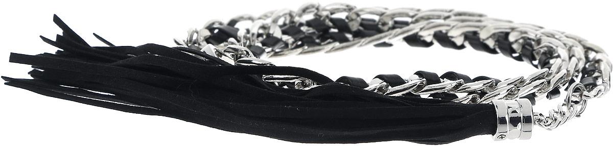 РеменьB386501_BlackСтильный женский ремень Baon станет идеальным дополнением к вашему образу. Изделие изготовлено из качественного полиуретана зернистой текстуры и металла. Ремень оформлен декоративной цепочкой и подвеской в виде веревочек. Ремень фиксируется с помощью замка-крючка, который выполнен из металла. Такой ремень станет незаменимым аксессуаром в вашем гардеробе, который подчеркнет ваш стиль и индивидуальность.