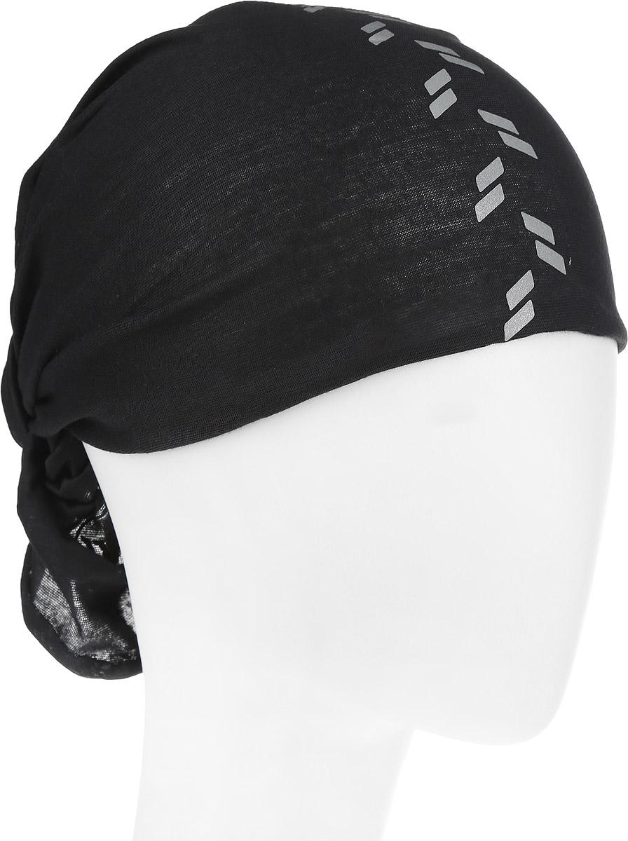 Бандана Original Buff Reflective R-Black. 111393.00111393.00Многофункциональная бандана Buff Original Buff Reflective R-Black, выполненная из мягкого полиэстра, защищает от ветра, пыли, влаги и ультрафиолета. Материал изделия контролирует микроклимат в холодную и теплую погоду, отводит влагу. Ткань обработана ионами серебра, обеспечивающими длительный антибактериальный эффект и предотвращающими появление запаха. Материал не теряет цвет и эластичность, не требует глажки. Бесшовная бандана-труба дополнена светоотражающими элементами в виде двух полос, которые повышают безопасность в условиях недостаточной освещенности. Модель можно носить на шее и на голове, как шейный платок, маску, бандану, шапку и подшлемник. Изделие очень эластично и принимает практически любую форму. Оформлена бандана небольшим логотипом бренда. Свойства материала позволяют использовать бандану в любое время года, при занятиях любым видом спорта, активного отдыха, туризма или рыбалки.