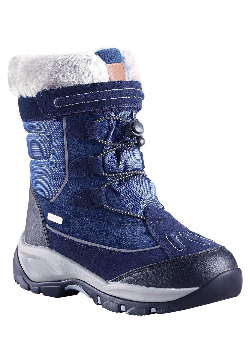 569297-1320Водонепроницаемые зимние сапоги Reimatec Samoyed для детей и подростков - практичная и надежная обувь для зимних забав! Верх этих стильных зимних сапожек изготовлен из телячьей замши и сочетания текстиля и синтетического материала. Благодаря водонепроницаемой конструкции и полушерстяной подкладке с запаянными швами ножкам будет тепло и сухо в морозные зимние дни, так что веселые приключения на свежем воздухе могут продолжаться хоть весь день. Рисунок Happy Fit на съемных войлочных стельках поможет подобрать нужный размер или измерить быстрорастущую ножку ребенка. За счет эластичных шнурков и застежки-липучки сапоги легко надевать и удобно регулировать! Эластичная подошва из ЭВА обеспечит хорошее сцепление на скользкой поверхности и не даст упасть во время зимних приключений. Модель имеет высокую степень утепления и рассчитана на самую холодную погоду - до -30°С.