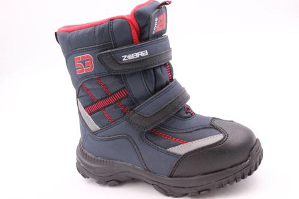 11035-10Полусапоги от Зебра выполнены из искусственной кожи и текстиля. Ремешки с застежками-липучками обеспечивают надежную фиксацию изделия на ноге. Внутренняя поверхность и стелька из шерсти сохранят ноги в тепле. Гибкая подошва с рифлением не скользит.