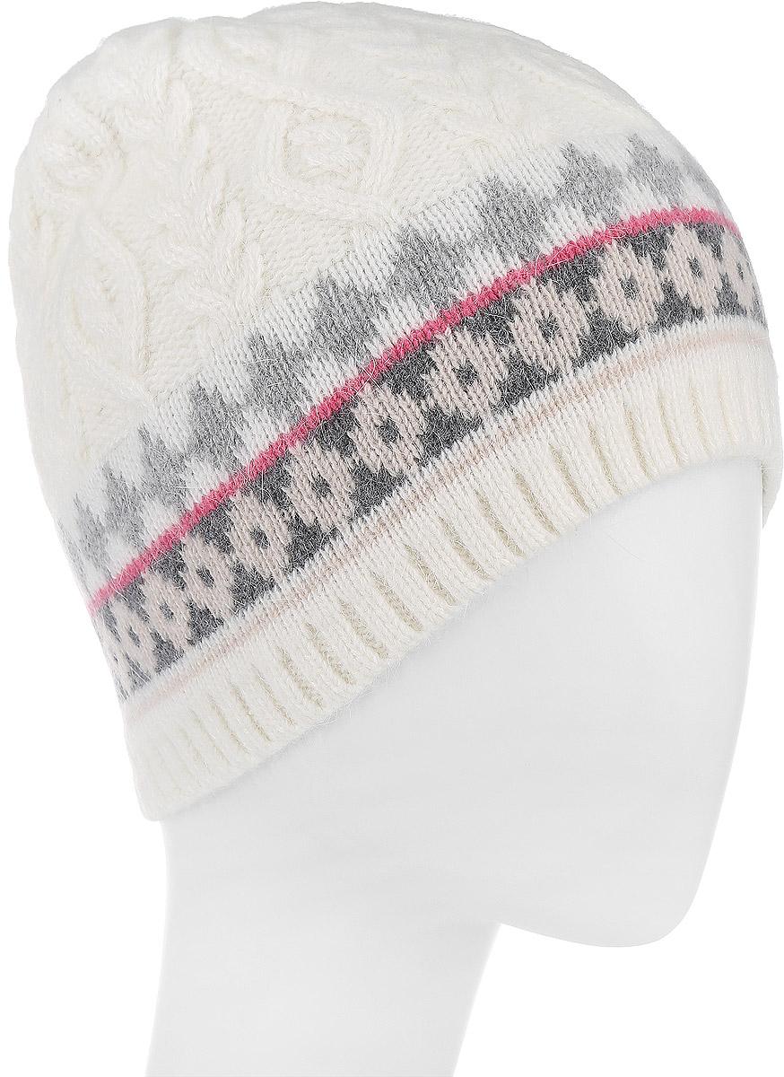 Шапка женская. HAk-141/318V-6303HAk-141/318V-6303Стильная шапка Sela идеально подойдет для прогулок в прохладное время года. Шапка оригинальной вязки изготовлена из мягкой высококачественной пряжи, она обладает хорошими дышащими свойствами и отлично удерживает тепло. Такая шапка станет модным и стильным дополнением вашего зимнего гардероба. Она поднимет вам настроение даже в самые морозные дни! Уважаемые клиенты! Размер, доступный для заказа, является обхватом головы.