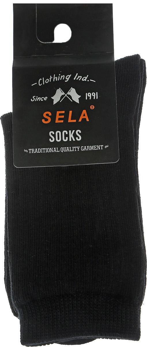 SOb-7854/026-6302Детские носки Sela прекрасный вариант для вашего ребенка. Они изготовлены из хлопка с добавлением нейлона и эластана, очень мягкие на ощупь, не раздражают даже самую нежную и чувствительную кожу. Носки имеют эластичную резинку и оформлены горизонтальными полосками на мысе и паголенке. Носочки послужат замечательным дополнением к детскому гардеробу.