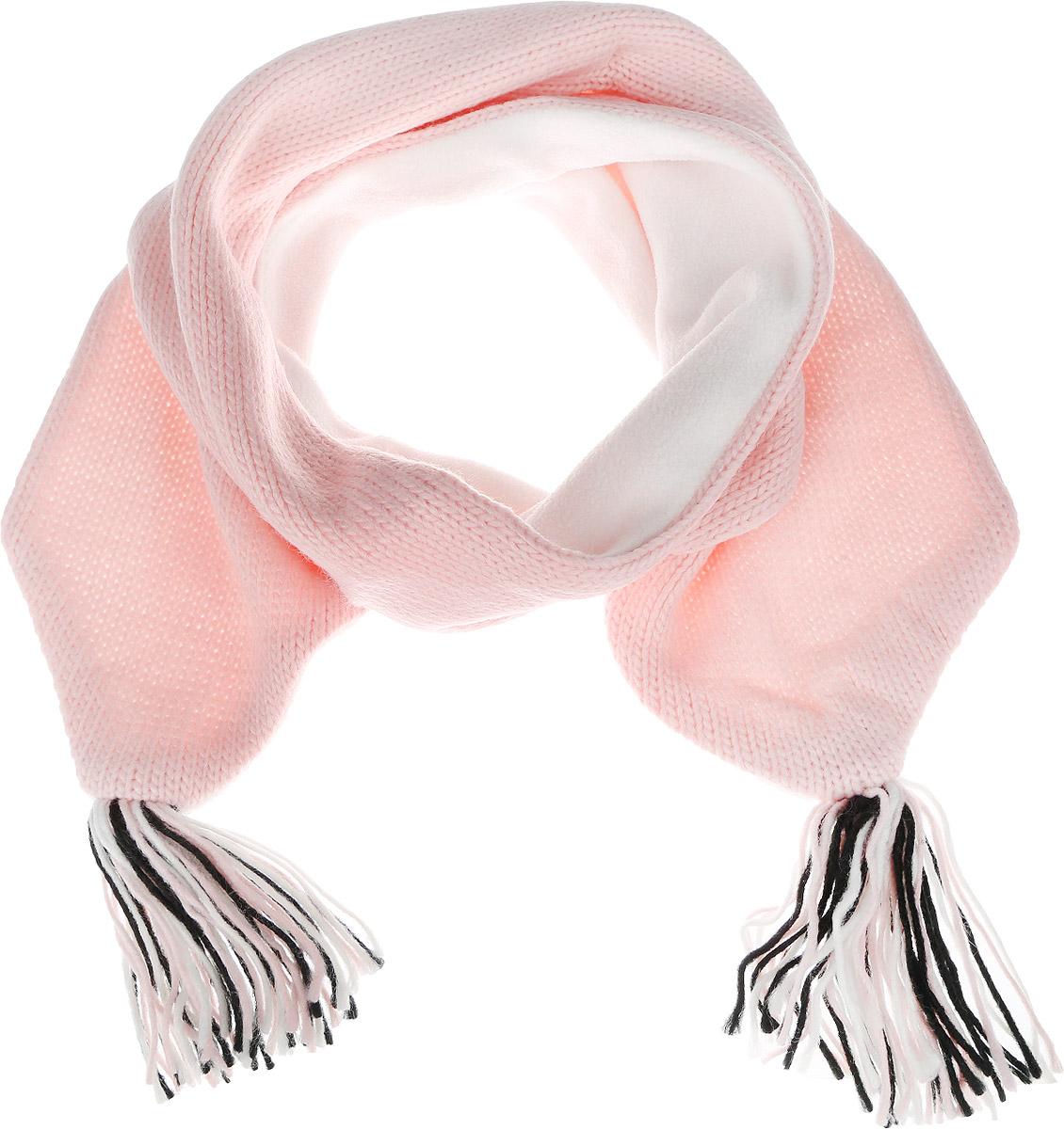Шарф для девочки. SC-542/237-6303SC-542/237-6303Вязаный шарф для девочки Sela идеально подойдет вашей малышке для прогулок на свежем воздухе. Изготовленный из натурального акриловой пряжи, он необычайно мягкий и приятный на ощупь, хорошо сохраняет тепло. Изделие украшено кистями по краям и дополнено мягкой подкладкой из флиса. Удобный шарф станет модным и стильным дополнением гардероба вашей маленькой принцессы, надежно защитит ее от холода и ветра и поднимет ей настроение даже в пасмурные дни!