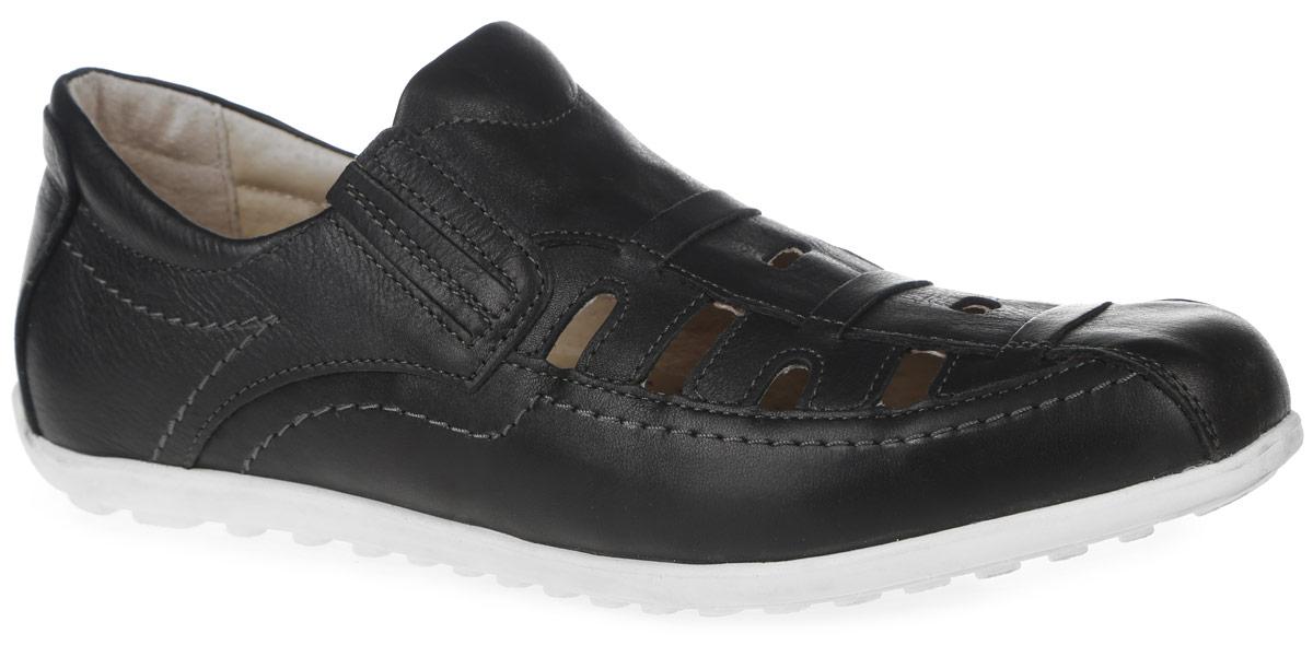 Туфли для мальчика. 10623-110623-1Стильные классические туфли от Kapika придутся по душе вашему сыну! Модель полностью выполнена из натуральной кожи и оформлена перфорацией для лучшей воздухопроницаемости. Модель дополнена эластичными резинками для удобства надевания. Задник дополнен кожаной накладкой. Стелька, выполненная из натуральной кожи, дополнена супинатором с перфорацией, который обеспечивает правильное положение стопы ребенка при ходьбе и предотвращает плоскостопие. Анатомическая стелька обеспечивает воздухопроницаемость, отличную амортизацию, сохранение комфортного микроклимата обуви, эффективное поглощение влаги и неприятных запахов. Подошва изготовлена из легкого и гибкого ТЭП-материала. Рифленая поверхность подошвы обеспечит отличное сцепление с любой поверхностью. Удобные и стильные туфли - незаменимая вещь в гардеробе каждого школьника!