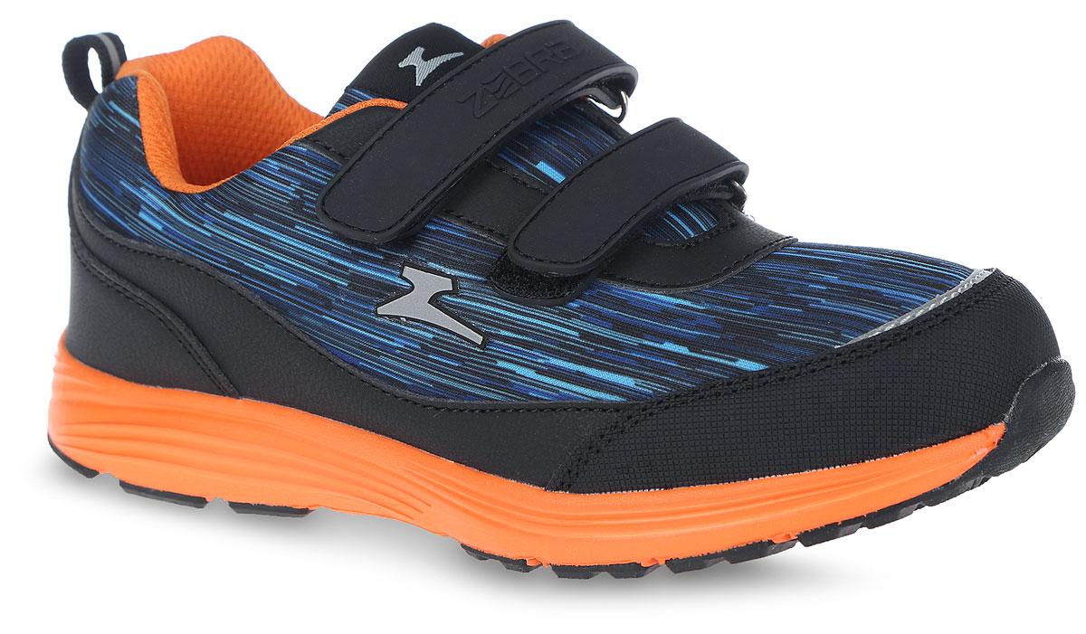 Кроссовки для мальчика. 10947-1910947-19Модные кроссовки от фирмы Зебра очаруют вашего ребенка с первого взгляда! Модель выполнена из текстиля и искусственной кожи. Воздухопроницаемая поверхность верха обеспечивает отличную вентиляцию, позволяет ногам дышать. Ремешки на застежках-липучках, пропущенные через шлевки на подъеме, надежно зафиксируют модель на ножке ребенка. Ярлычок, расположенный на заднике, облегчает процесс надевания кроссовок. Подкладка из текстиля комфортна при движении. Рельефная стелька с поверхностью из натуральной кожи дополнена супинатором, который обеспечивает правильное положение ноги ребенка при ходьбе, предотвращает плоскостопие. Анатомическая стелька способствует правильному формированию скелета и анатомических сводов детской стопы, снижает общую усталость ног, уменьшает нагрузку на позвоночник, делает ходьбу ребенка легкой, приятной и комфортной. Подошва с рифлением обеспечивает отличное сцепление с любой поверхностью. Эффектные кроссовки приведут в восторг вашего модника!